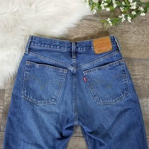 Levis Premium 501s Mom Jeans Blue Denim 26